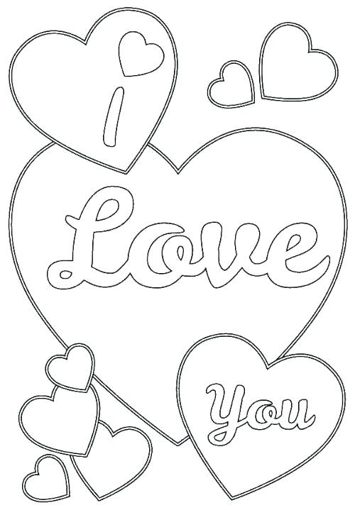 500x750 Coloring Pages Cute Animals Cute Coloring Pages I Love You