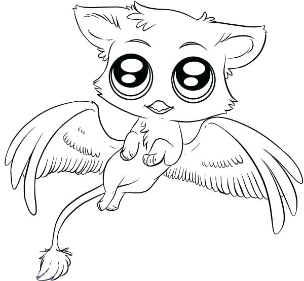 Cute Anime Animals Coloring Pages At Getdrawings Com Free For