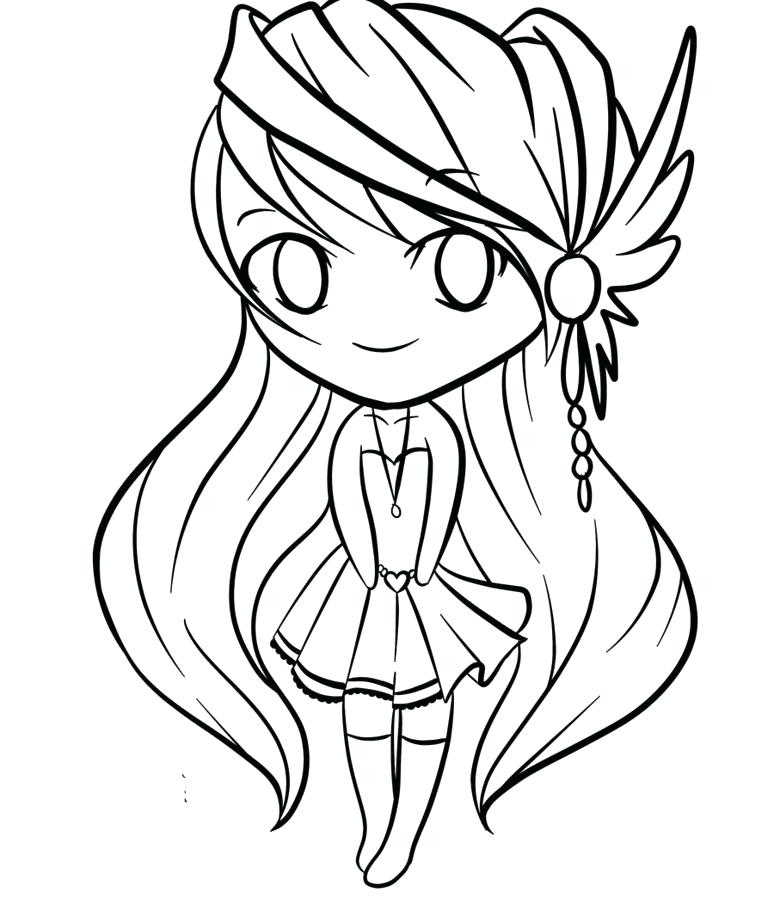 Cute Anime Animals Coloring Pages At GetDrawings Free Download