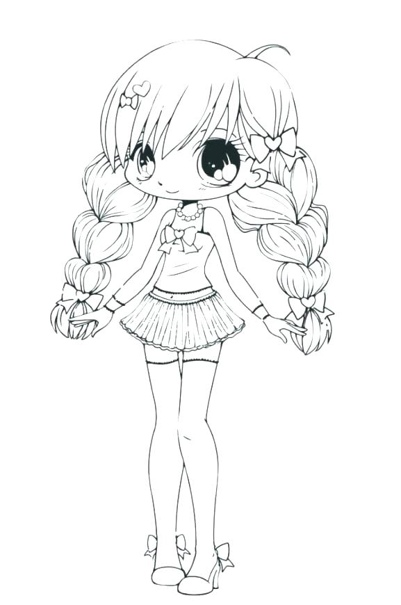 577x870 Cute Anime Animals Coloring Pages