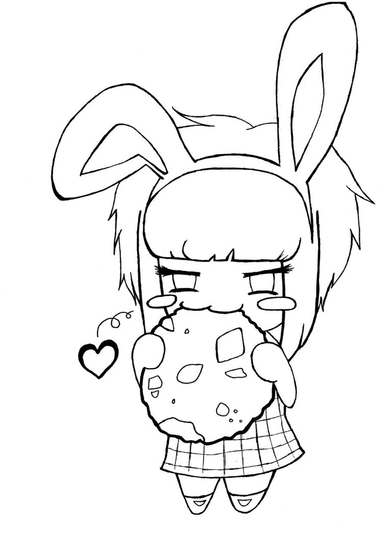 Cute Anime Coloring Pages at GetDrawings | Free download