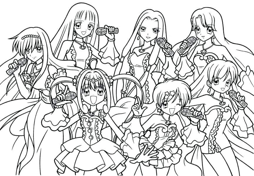 Cute Anime Coloring Pages At Getdrawings Com Free For Personal Use