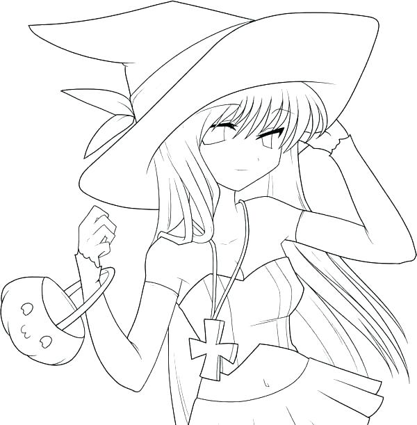 cute anime coloring pages 9
