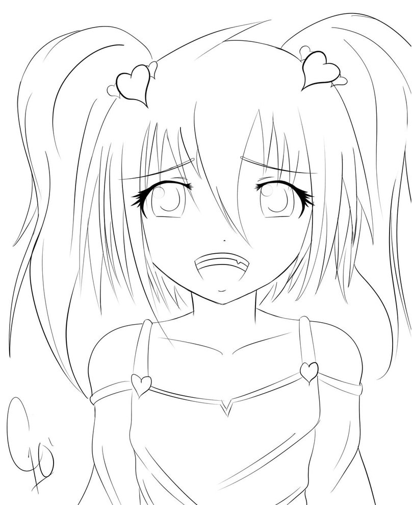 808x989 Manga Girl Coloring Pages, Free Manga Anime Coloring Pages