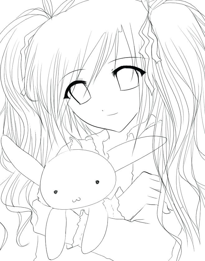 658x839 New Anime Coloring Pages Or Cute Anime Girl Coloring Pages View