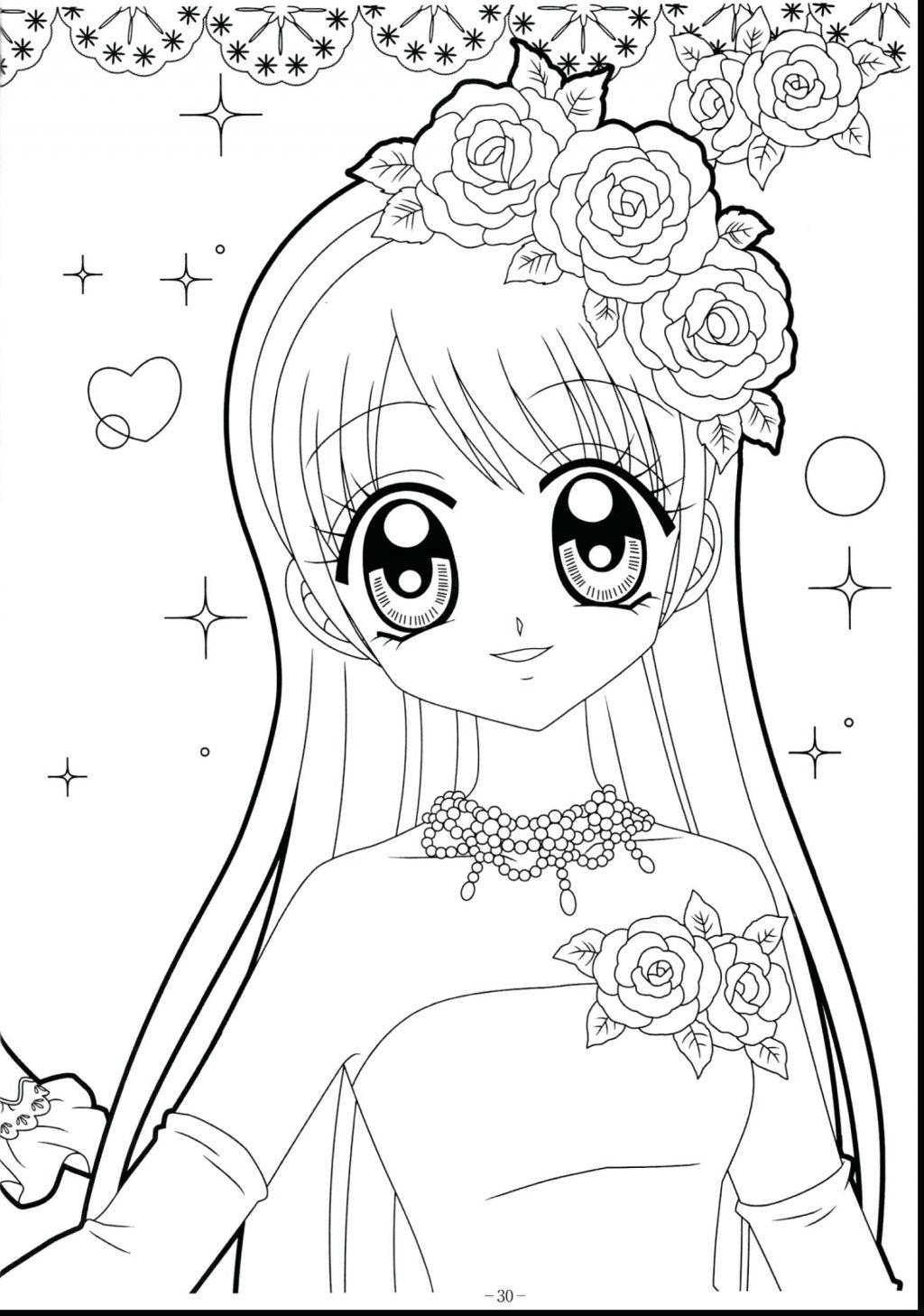 1024x1458 Coloring Page Cute Anime Coloring Pages Well Food Girl Colouring
