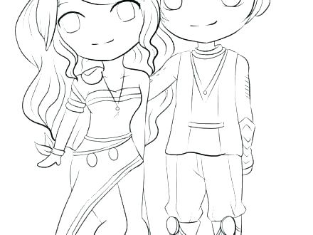 440x330 Cute Anime Couple Coloring Pages Coloring Ideas Pro