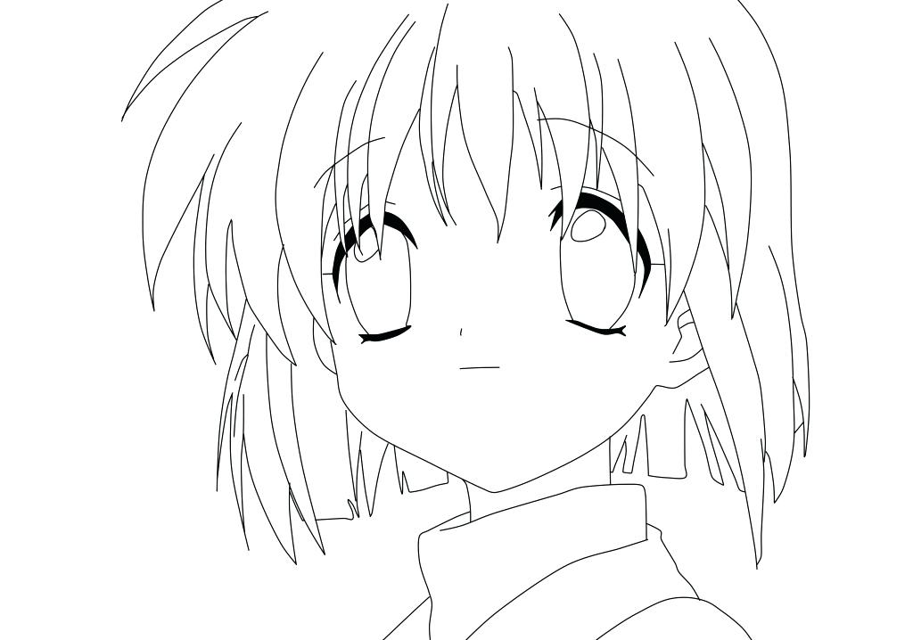 1024x718 Anime Coloring Pages Anime Females Colouring Pages Cute Anime