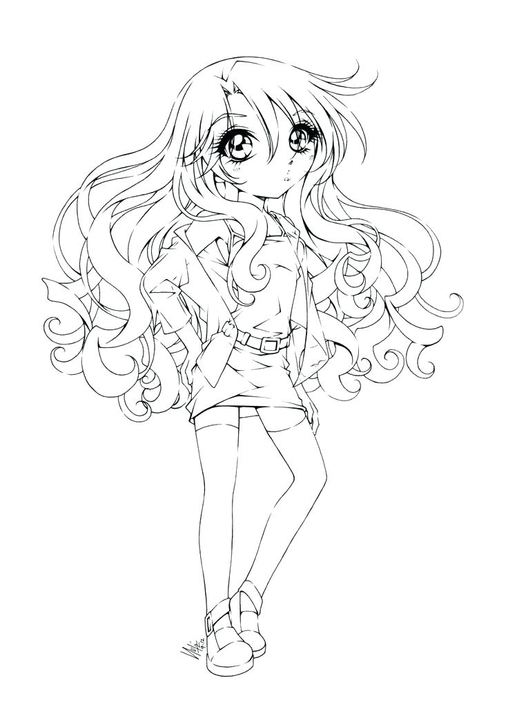Cute Anime Girl Coloring Pages At Getdrawings Com Free For
