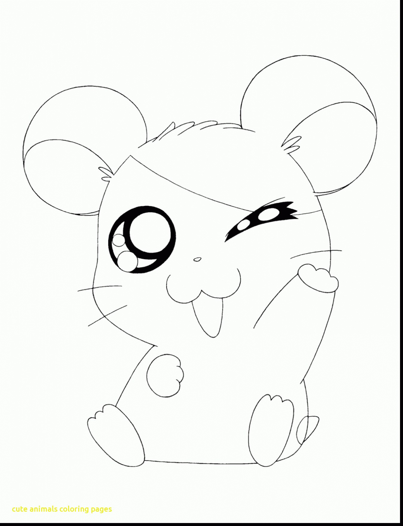 1349x1760 Cute Animal Coloring Pages Throughout Pictures Acpra