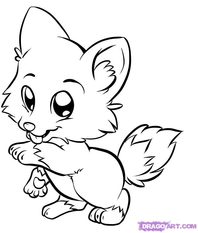 652x766 Draw Cute Baby Animals Coloring Pages