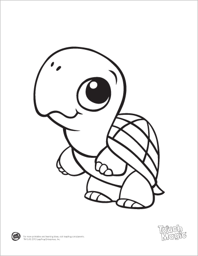 405x524 Learning Friends Turtle Coloring Printable From Leapfrog