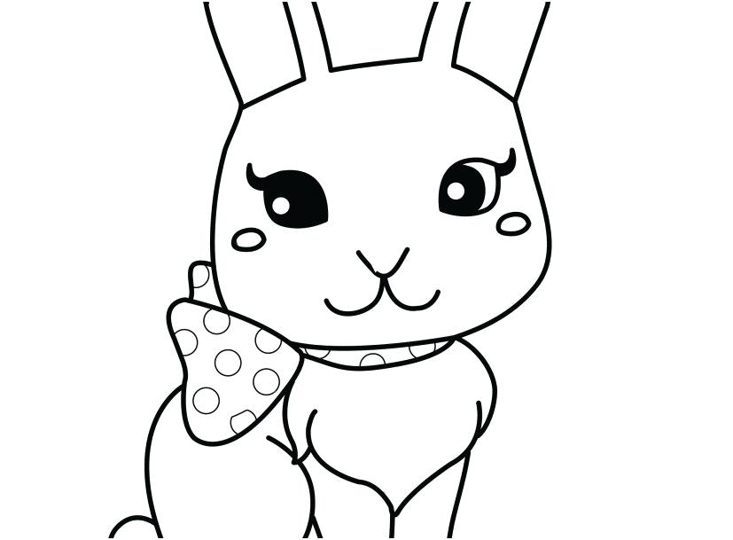 827x609 Baby Rabbit Coloring Pages