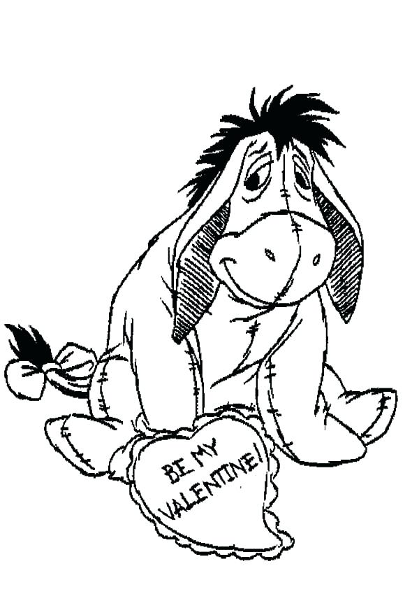600x849 Baby Eeyore Coloring Pages Drawing Baby Colouring Page Drawing