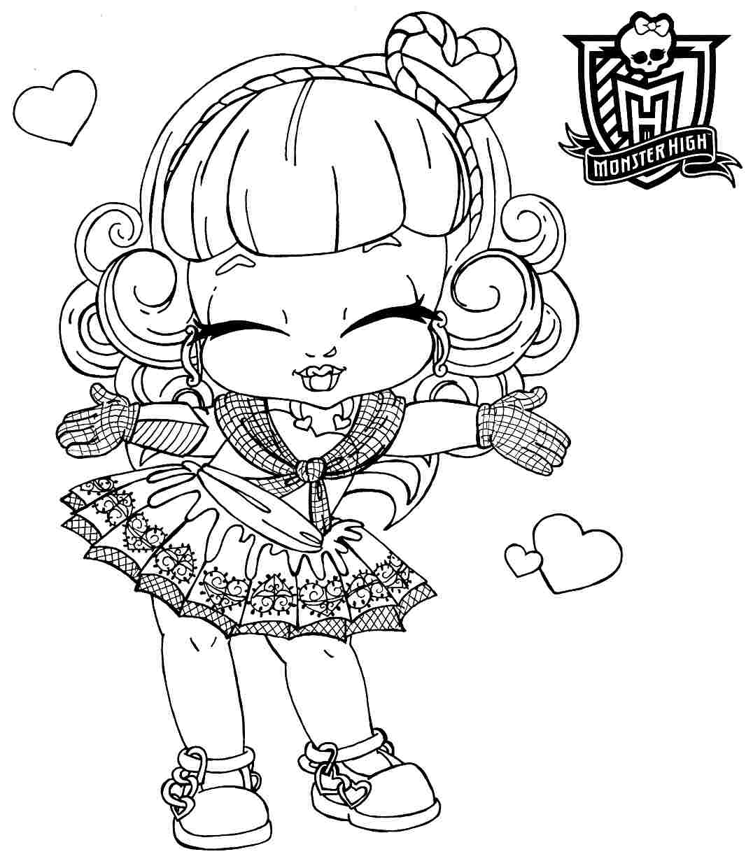1076x1231 Coloring Pages For Girls Monster High Babies Color Bros