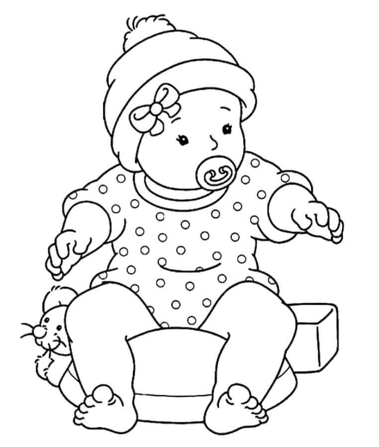 762x898 Cute And Latest Baby Coloring Pages