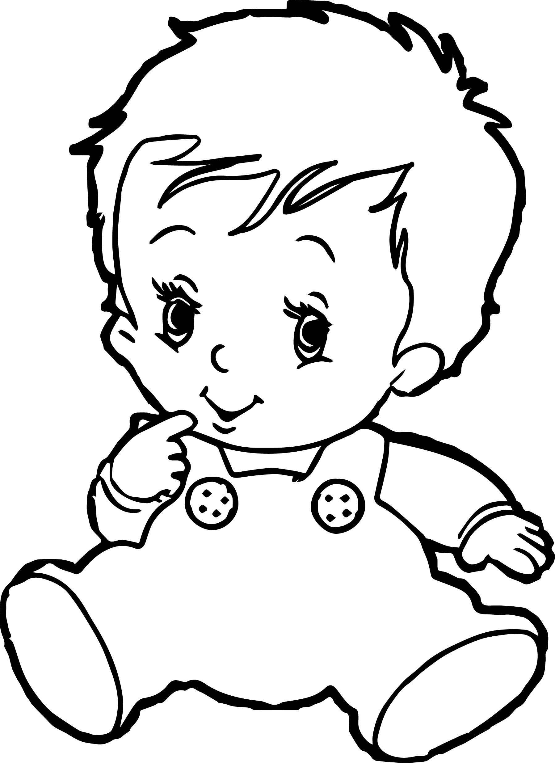 1797x2470 Cute Boy Coloring Page Baby Pages