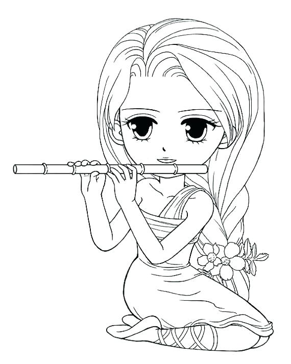 570x713 Cute Girl Coloring Pages Coloring Pages For Girls In Addition