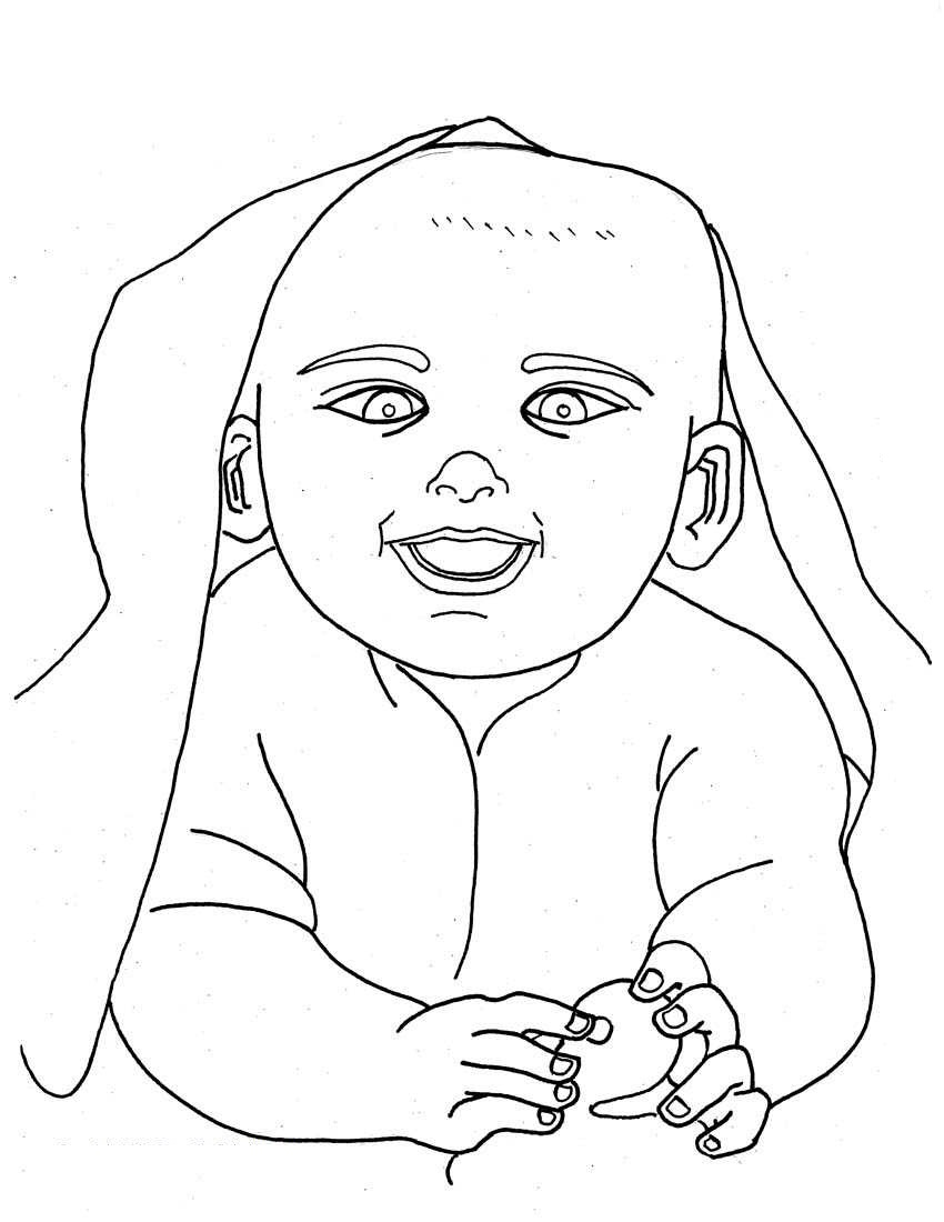 850x1100 Free Printable Baby Coloring Pages For Kids