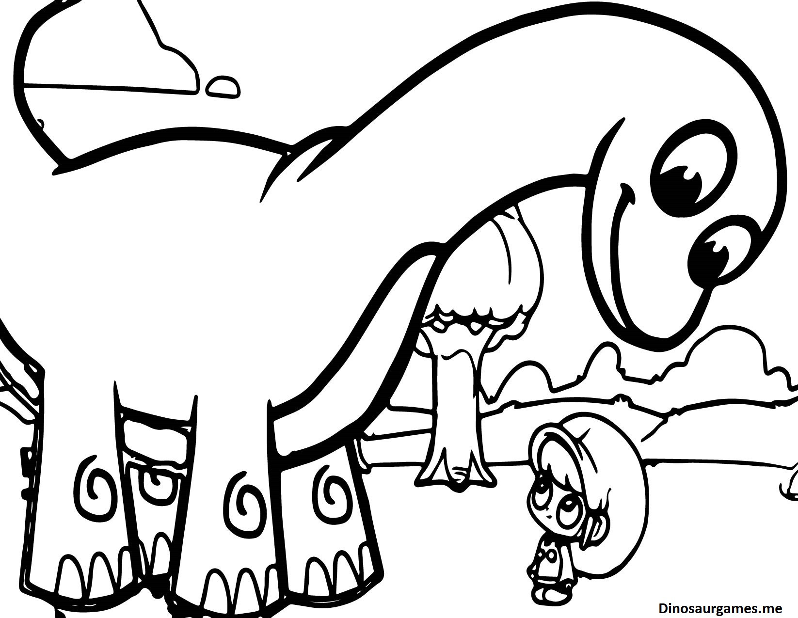 Cute Baby Dinosaur Coloring Pages at GetDrawings   Free ...