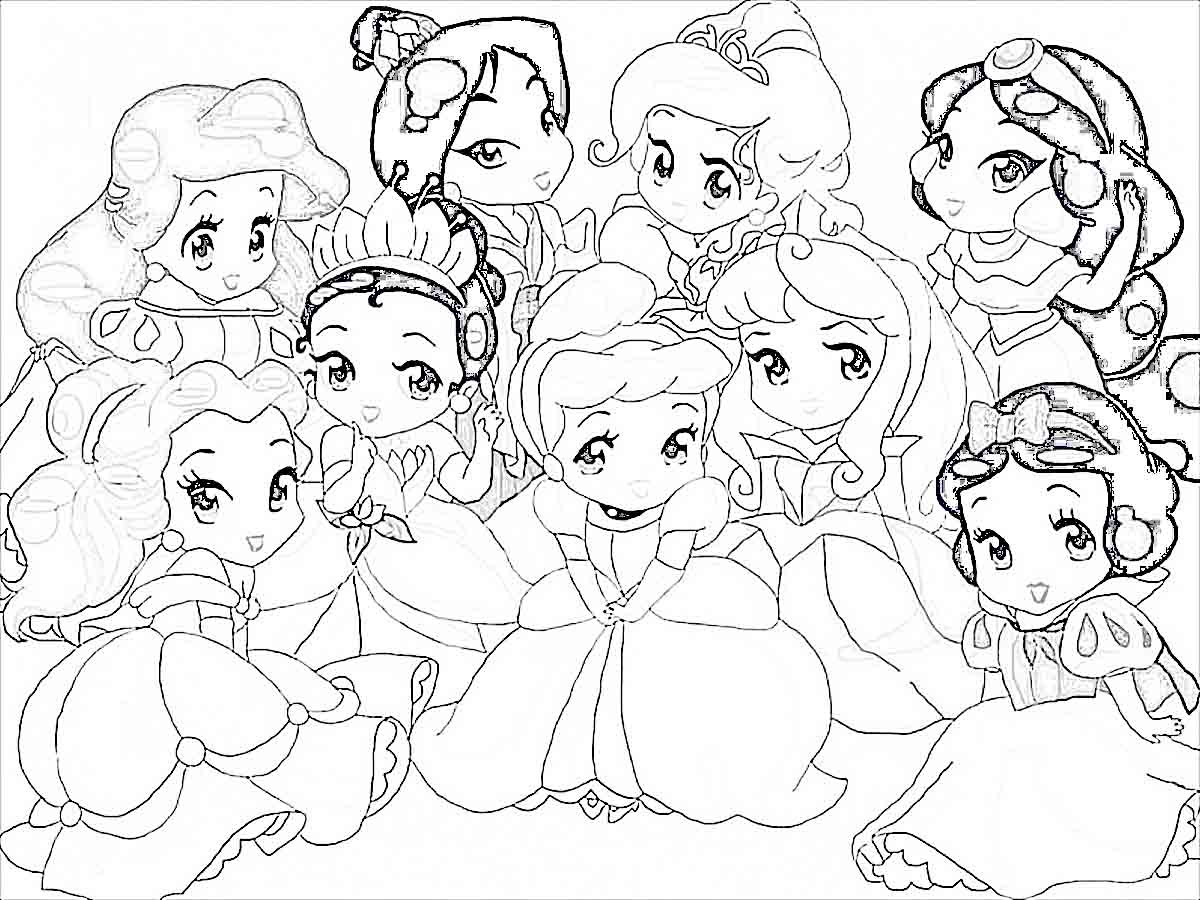 1200x900 Cute Baby Disney Coloring Pages