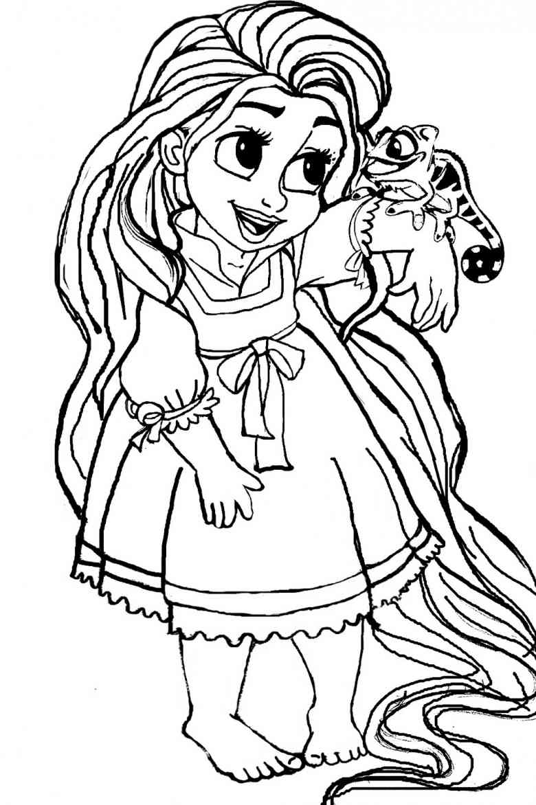 780x1172 Cute Baby Disney Princess Coloring Page Images