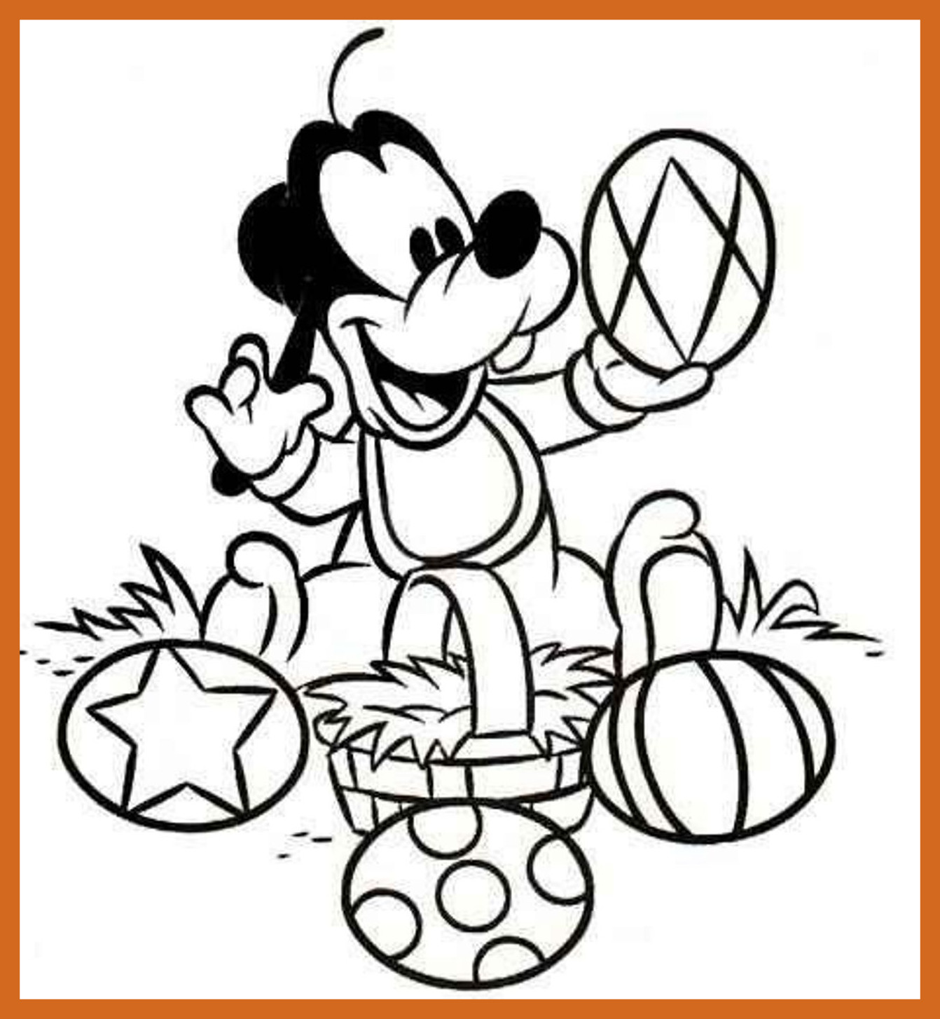 1342x1454 Shocking Cute Baby Minnie Flower Disney Coloring Pages Printables