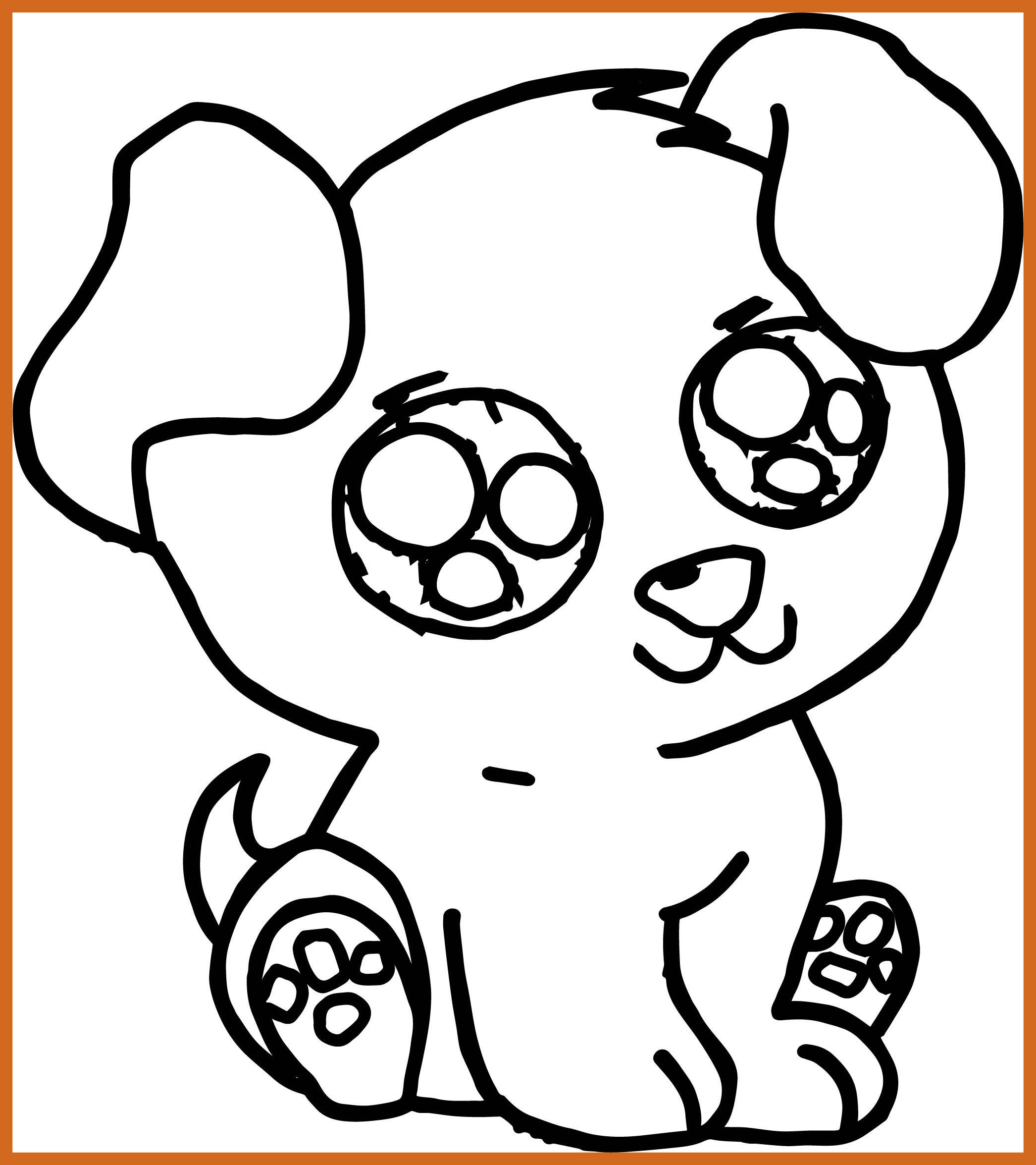 Cute Baby Dog Coloring Pages