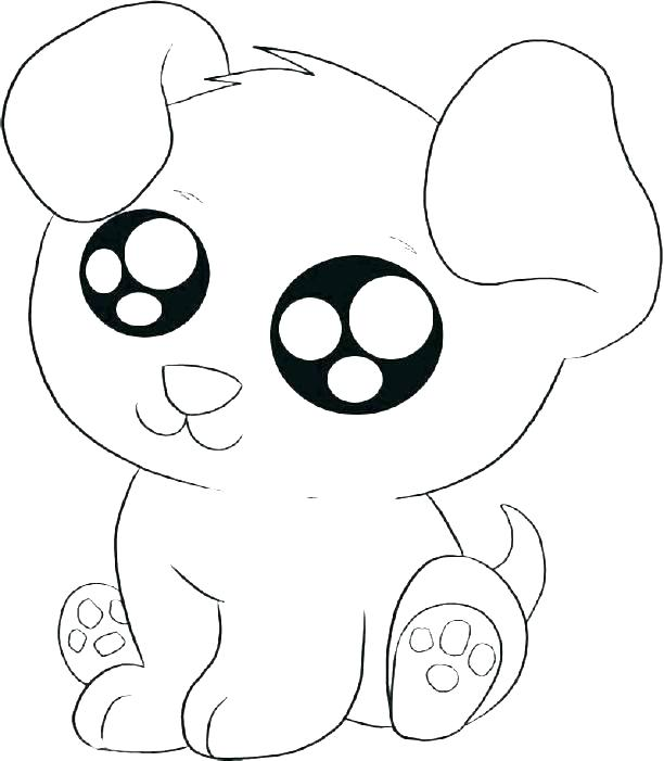 612x701 Cute Cartoon Dog Coloring Pages Kids Coloring Dogs Coloring Page