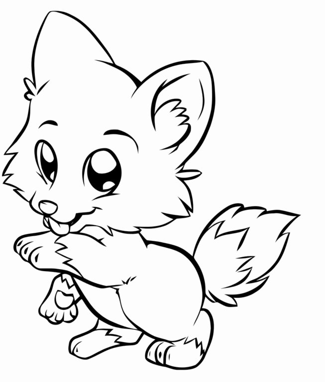 653x768 Cute Puppy Coloring Pages
