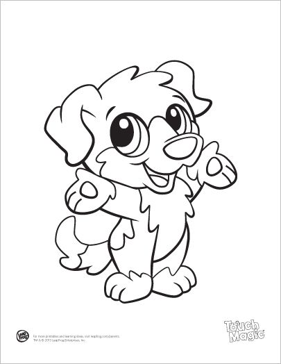 405x524 Learning Friends Dog Baby Animal Coloring Printable From Leapfrog