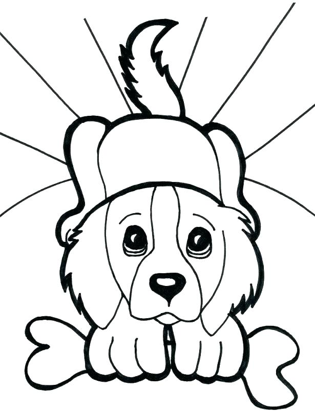 615x804 Cute Dogs Coloring Pages