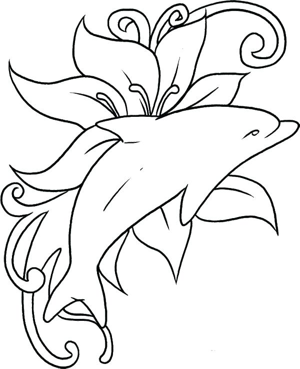 600x736 Baby Dolphin Coloring Pages Dolphin Coloring Page Dolphin Coloring