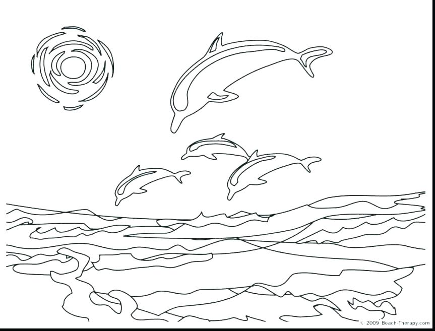 863x657 Baby Dolphin Coloring Pages Dolphin Coloring Pages Free Dolphin