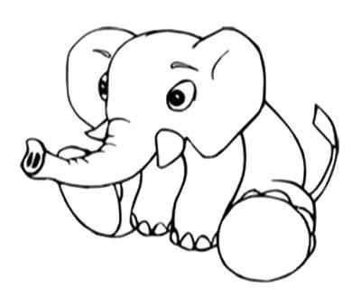 400x339 Best Cute Baby Elephant Coloring Pages Images