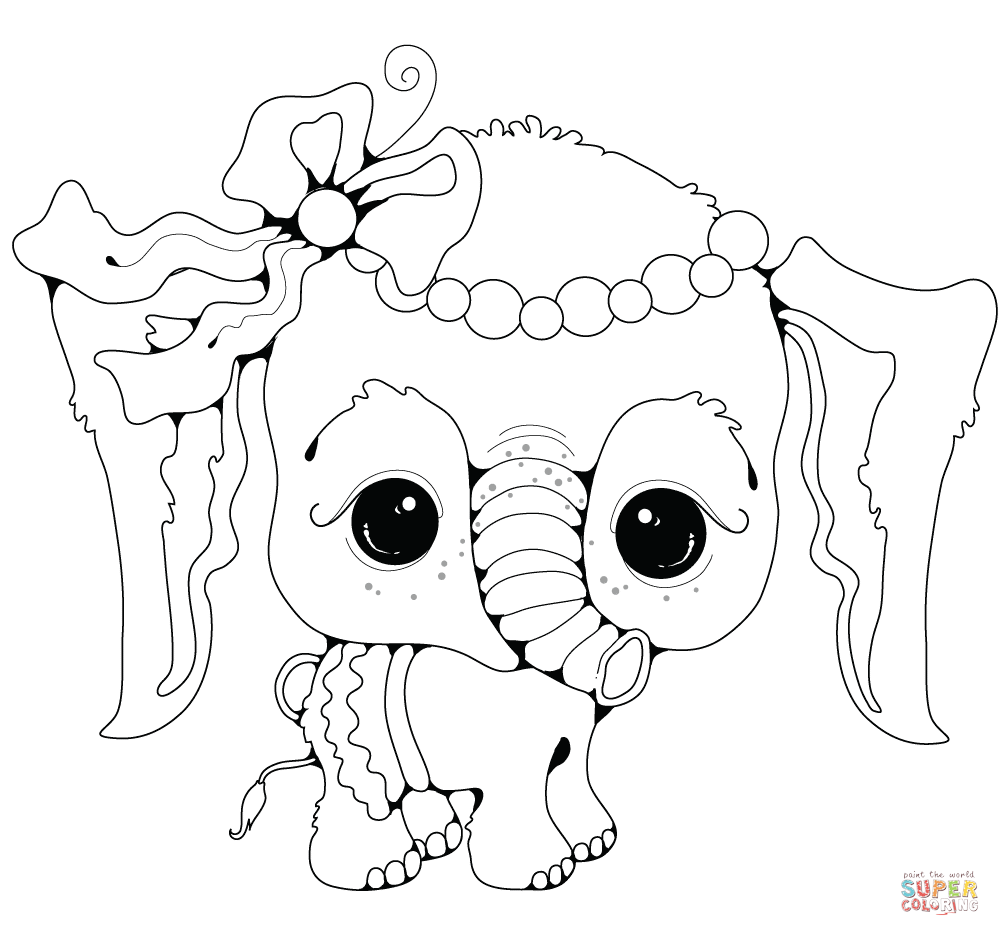 1000x936 Baby Elephant Girl Coloring Page Free Printable Pages