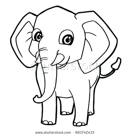 450x470 Cute Baby Elephant Coloring Pages Page