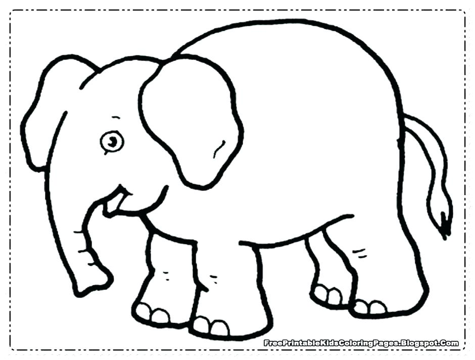 940x714 Cute Elephant Coloring Pages Cute Elephant Coloring Pages