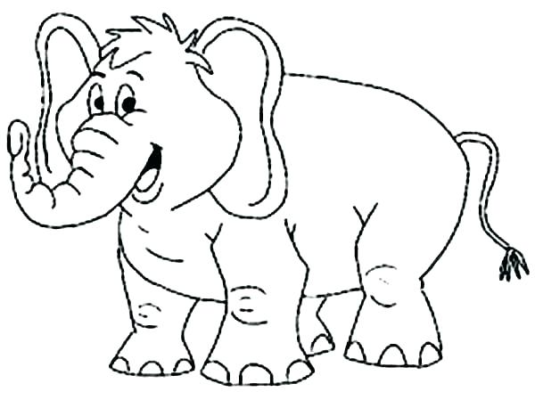 600x449 Good Baby Elephant Coloring Pages Kids Cute Sheets Baby Elephant