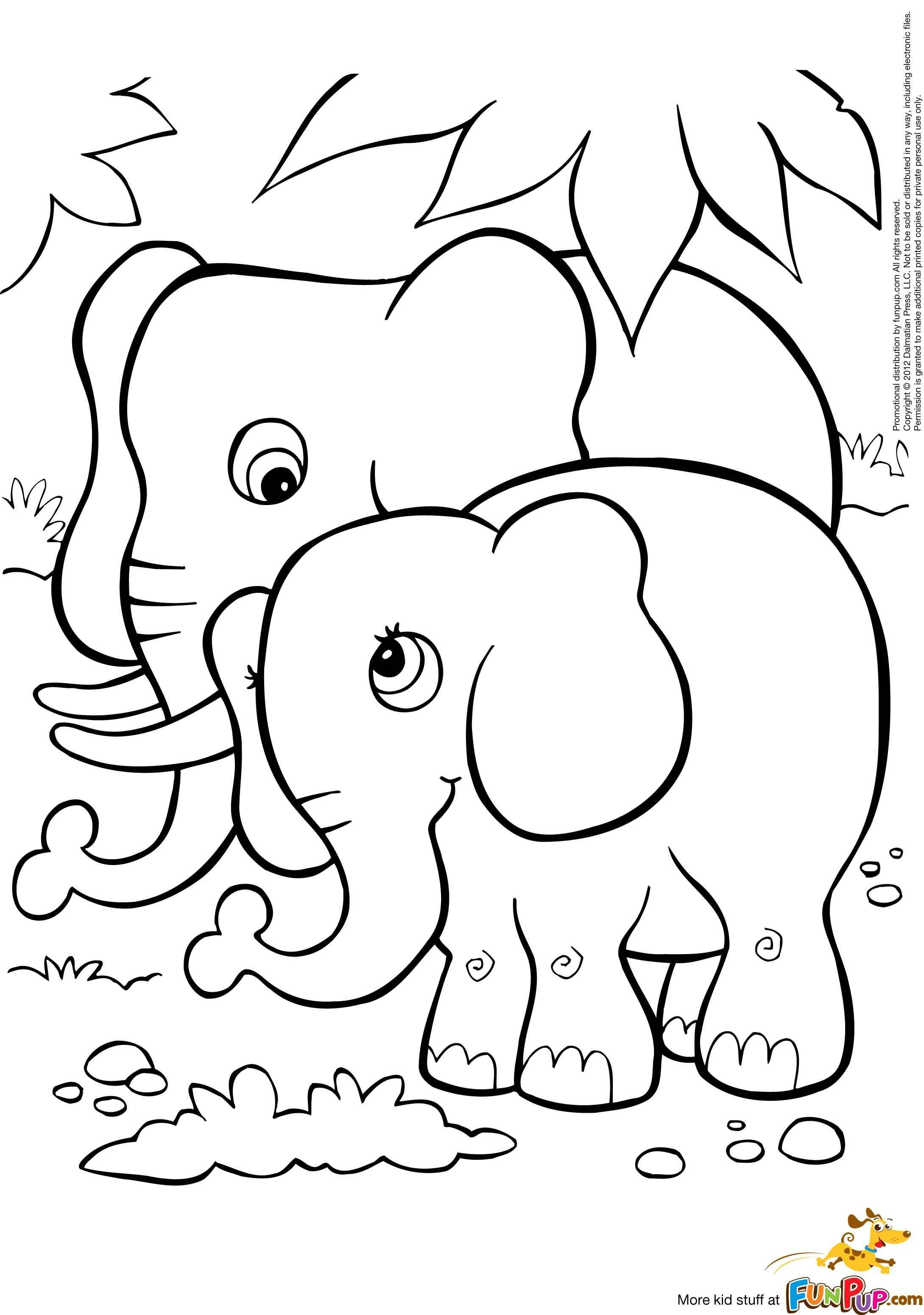 2179x3101 Cute Baby Elephant Coloring Pages