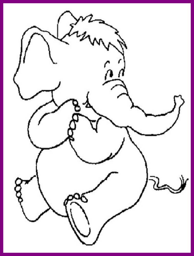 794x1050 Shocking Brilliant Cute Baby Elephant Coloring Pages With Animal