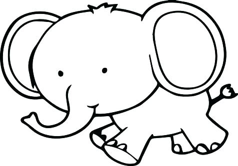 476x333 Cute Elephant Coloring Pages