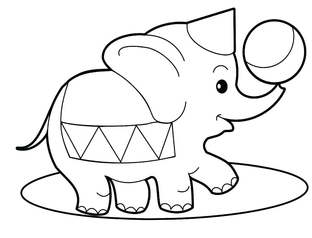 1008x768 Cute Elephant Coloring Pages