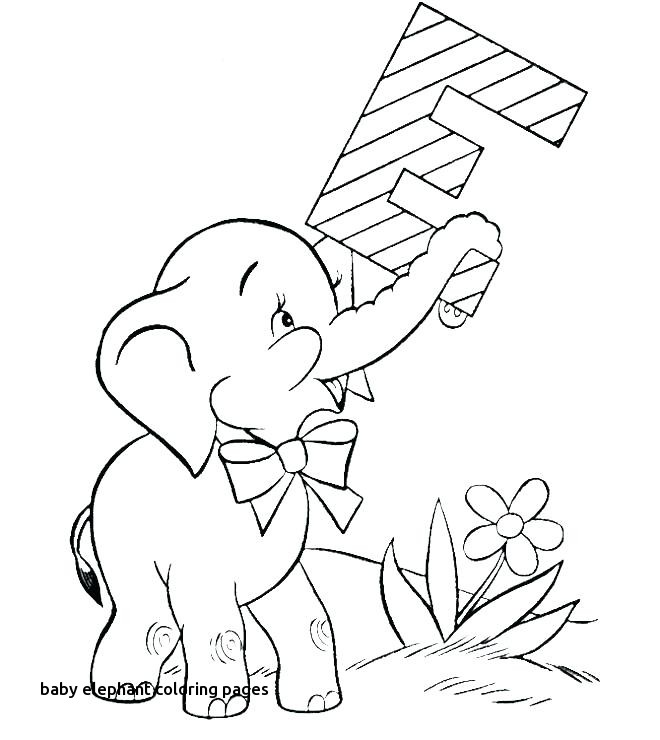 660x740 Baby Elephant Coloring Page Coloring Page Animal Cute Baby