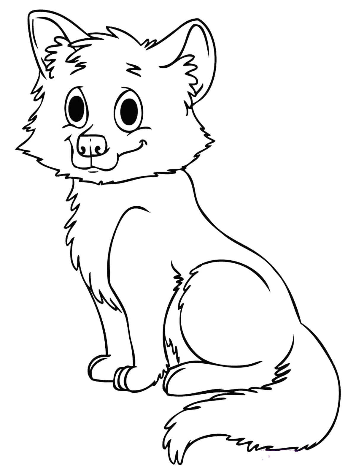 1200x1600 Cute Baby Fox Coloring Page Pages Best Of Brilliant
