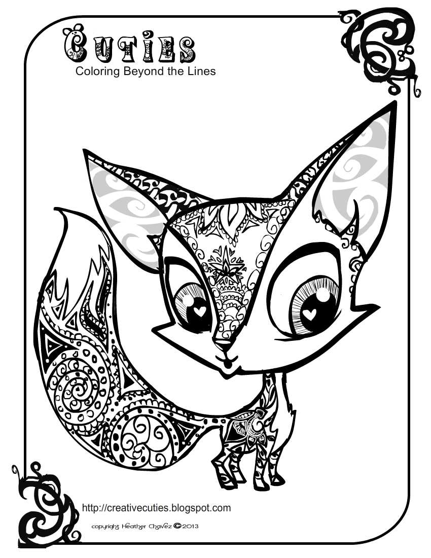 850x1100 And Cute Fox Coloring Pages