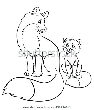 403x470 Fox Coloring Pages Baby Fox G Pages Cartoon And Pictures Page Kids