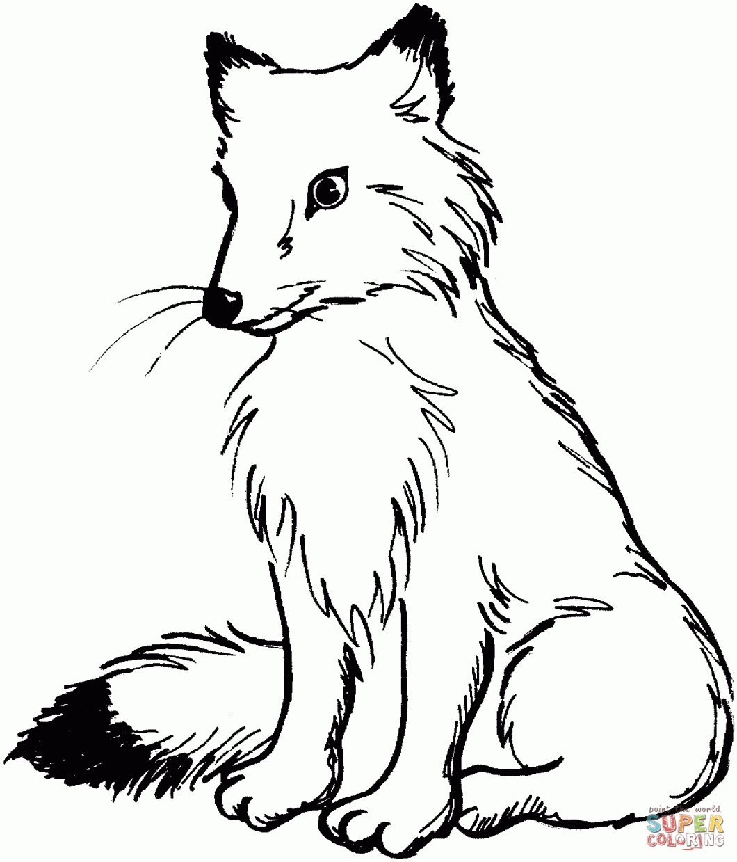1060x1239 Fox Coloring Pages Best Of Baby Fox Coloring Pages Cute Fox