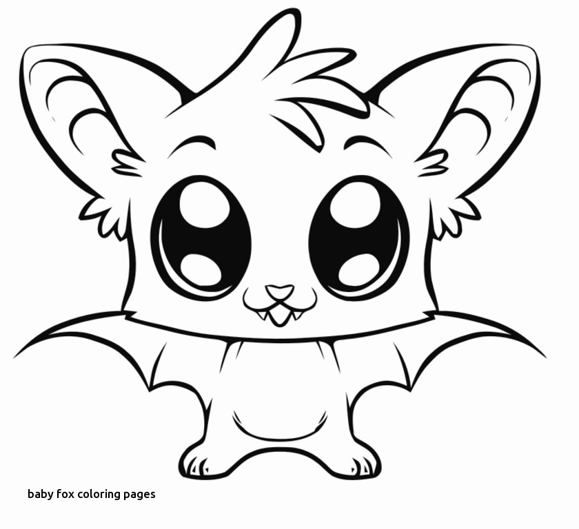 840x768 Image Detail For Coloring Pages Of Cute Baby Animals For Baby Fox