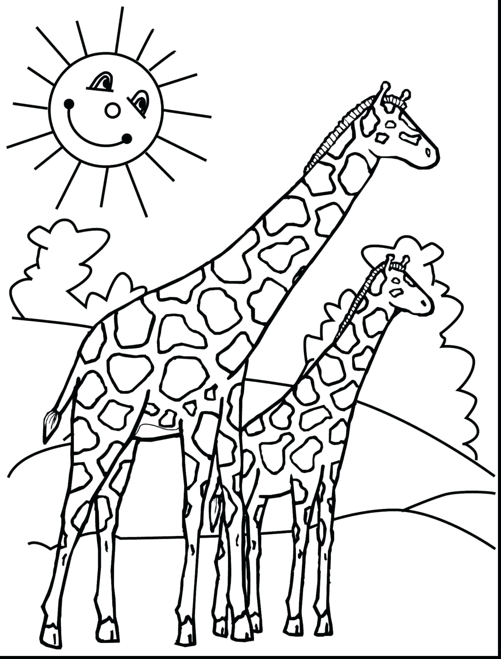 1645x2164 Cute Baby Giraffe Coloring Pages Printable Coloring For Kids